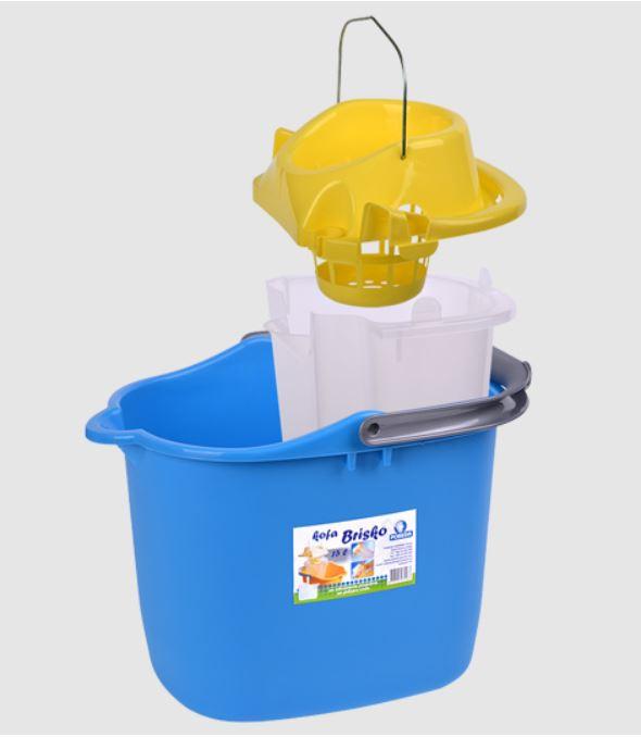 Кофа 15л. с цедка и вътрешен съд за мръсна вода-image